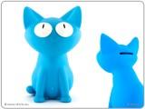 Modrá kasička kočka Silly