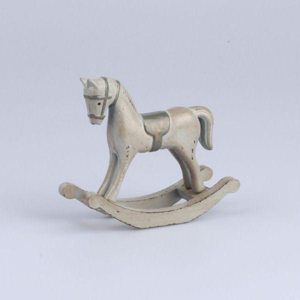 Modrý houpací kůň - vintage