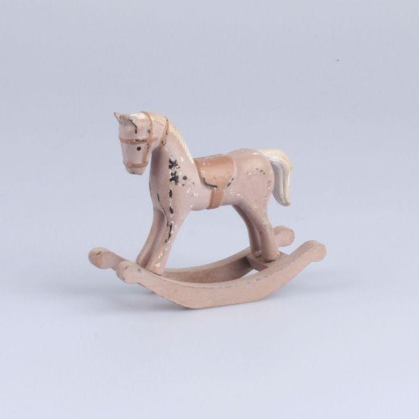 Růžový houpací kůň - vintage