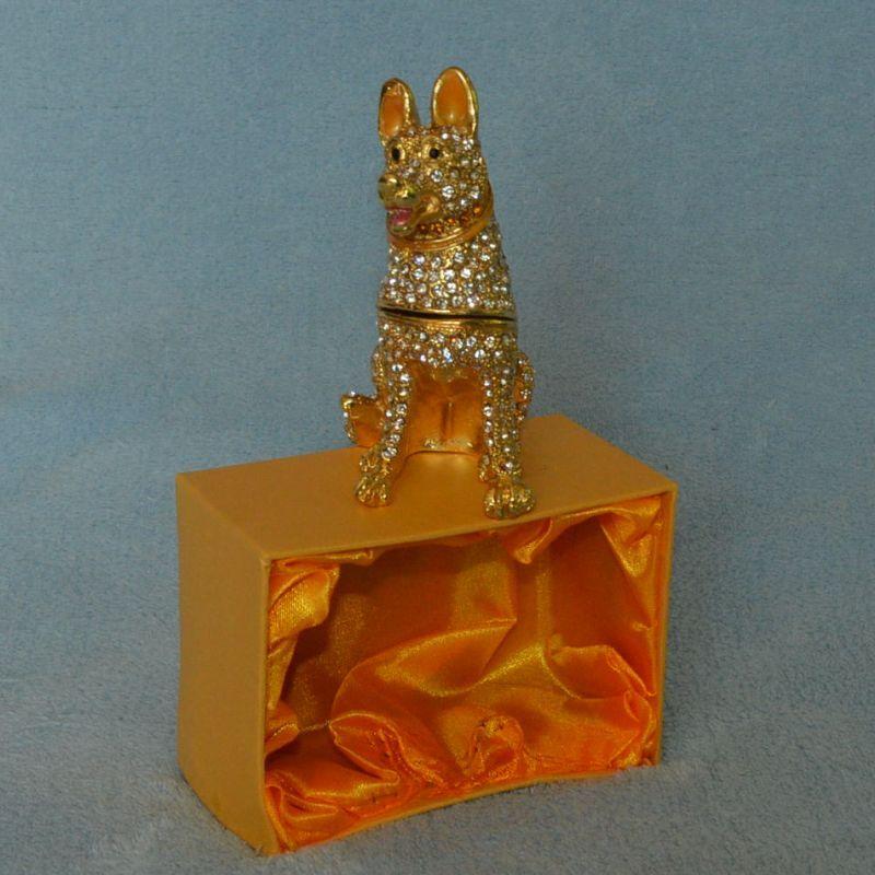 šperkovnice zlatý pes
