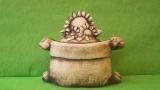 Dóza - hrnec jutový se slunečnicemi malý natur