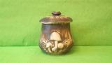 Dóza - hrnec s houbami menší natur