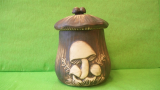 Dóza - hrnec s houbami velký natur