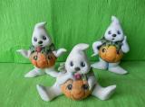 Halloweenská dýně - duch malý barevný mix