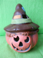 Halloweenská dýně s kloboukem barevná