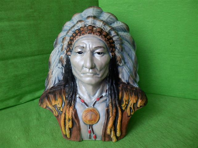 Indiánská busta náčelníka