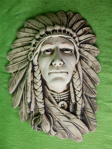 Indiánská plaketa náčelníka