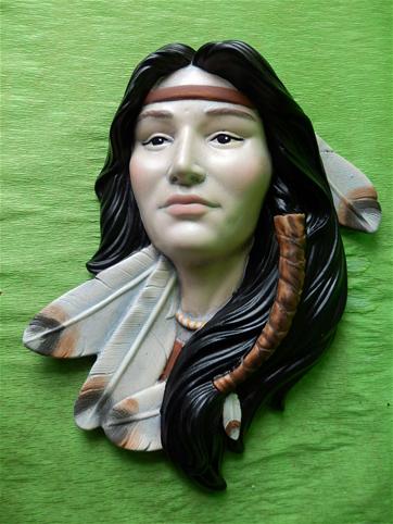 Indiánská plaketa ženy