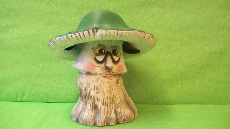 Keramická houba - holubinka velká s obličejem