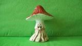 Keramická houba -  muchomůrka střední s obličejem