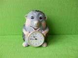 Keramické hodiny ježek barevný