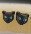 Kočičí náušnice - kočičí hlava