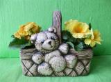 Květináč koš s medvědem