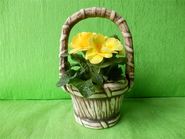 Květináč koš s uchem