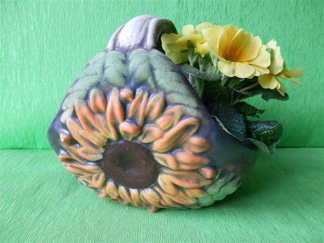 Květináč koš se slunečnicí