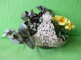 Květináč krajkový koš