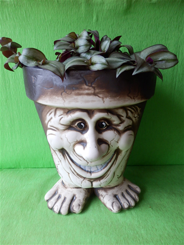 Květináč s veselým úsměvem