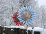 Plotovka - slunečnice mřížka barevná
