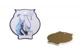 Podtácek ve tvaru sovy modrá kočka