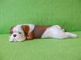 Soška pes - hnědý buldog