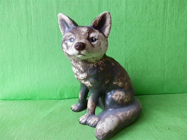 Soška sedící liška