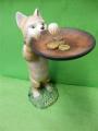 Polička - kočka s talířem