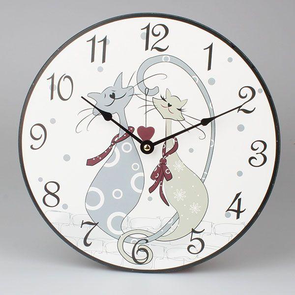 nástěnné hodiny kočky milovnice