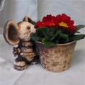 Keramický květináč myšák s košíkem