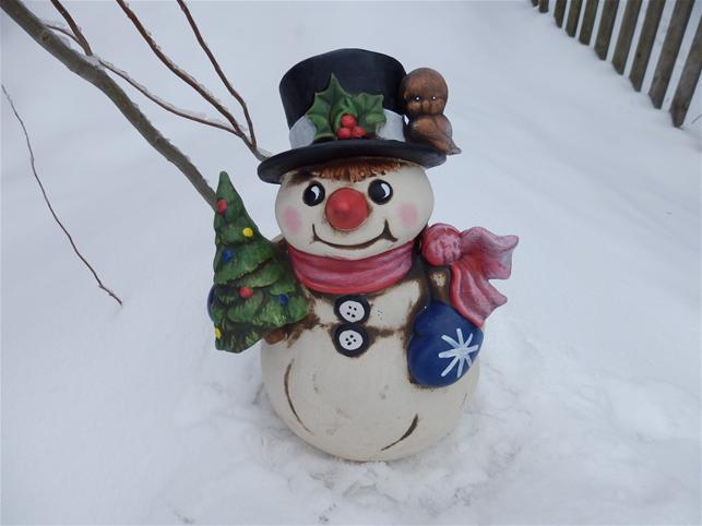 Keramický malý sněhulák