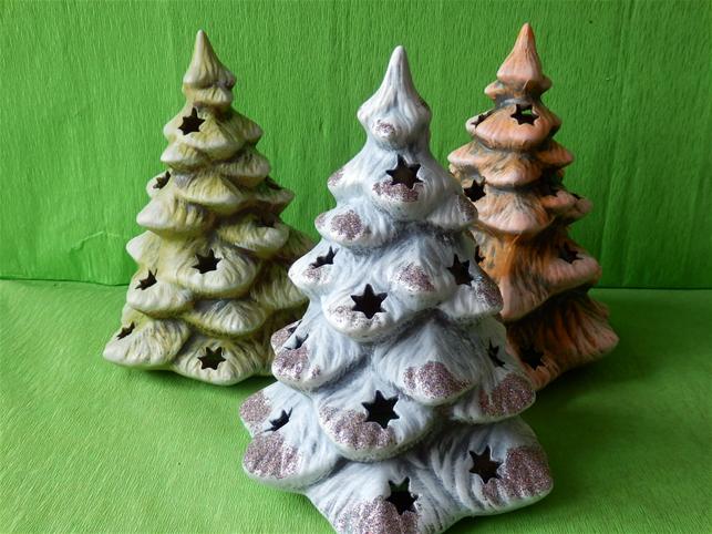 Keramický vánoční světelný stromek