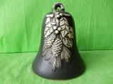 Keramický vánoční zvonek natural