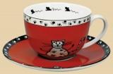 Hrnek na kávu s mlékem Kočka s ťapkami