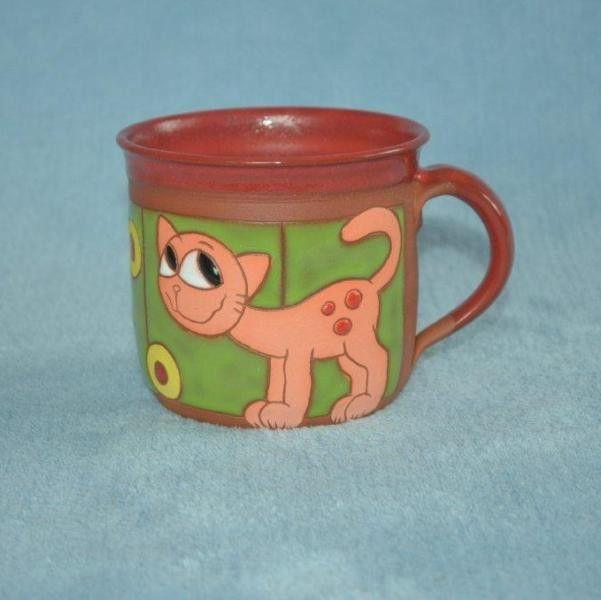 Hrnek růžová kočka LYI 21