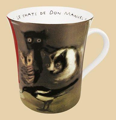 Hrnek Tři kočky a straka - Goya