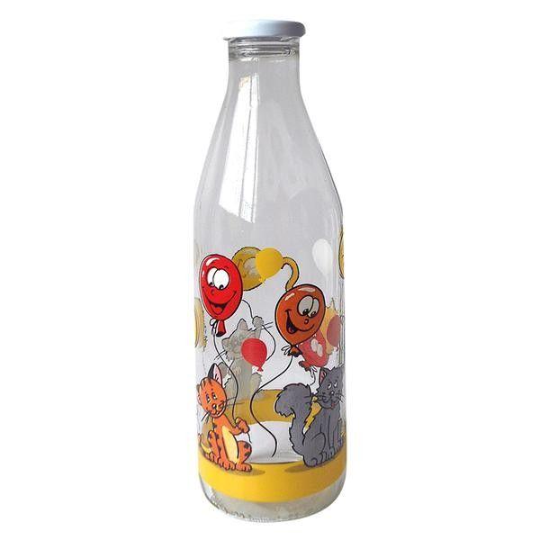 Láhev na mléko - kočky a balónky
