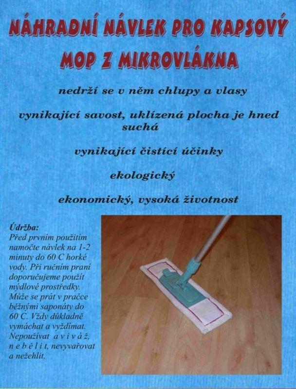 Náhradní návlek na kapsový mop Standart CENTRUM SERVICE