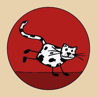 Podšálek / tácek Kočka s ťapkami