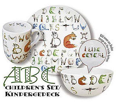 Snídaňová sada s abecedou