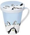 Globetrotter/Penguin - hrnek s víčkem - tučňák