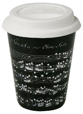 Cestovní hrnek Vivaldi Libretto černá