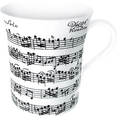 Hrnek s notami Vivaldi