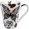 Hrnek Black-red Butterfly- červeno černý motýl