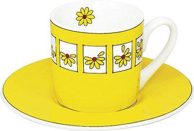 Šálek se žlutými kytičkami