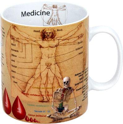 Hrnek s medicínskými motivy