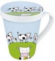 Hrnek Globetrotter/Cow -  hrnek s víčkem - Kráva