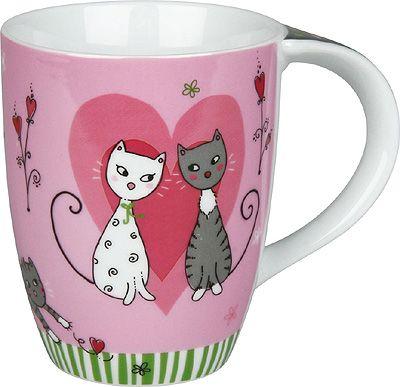 Hrnek se zamilovanými kočkami