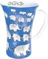 Maxi hrnekChain of elephants/blue - sloni