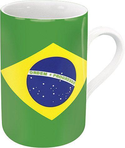 Hrnek s brazilskou vlajkou