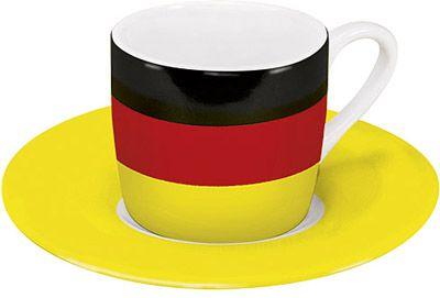 Hrnek na espresso s německou vlajkou