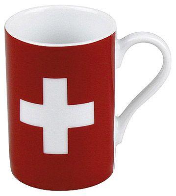 Hrnek na minipresso se švýcarskou vlajkou